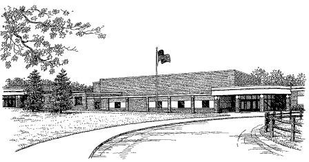Sketch of the Front of the Junior Senior High School