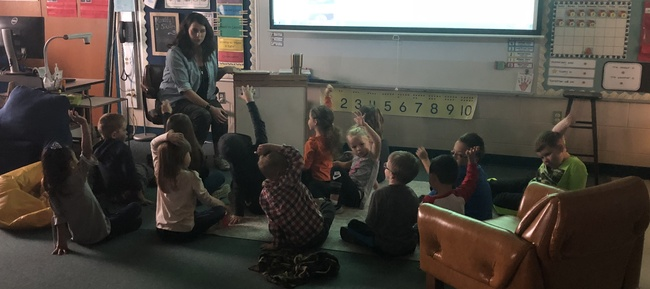 Ms. Charles Teaching Kindergarten